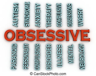 3d imagen Obsessive (OCD or Obsessive Compulsive Disorder) ...