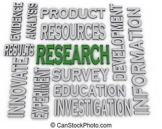 3d imagen Research concept word cloud background