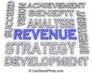 3d imagen Revenue  issues concept word cloud background