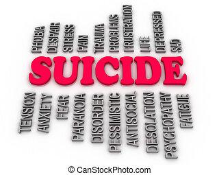 3d  imagen Suicide concept