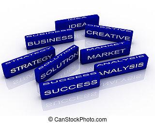 3d imagen to business success concept