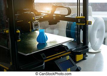 3d, impresora, moderno, filamento
