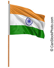 3D Indian flag