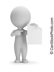 3d, indica, foglio bianco, -, persone, piccolo