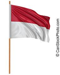 3D Indonesian flag