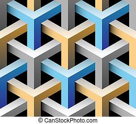 3d industrial seamless pattern vector illustration