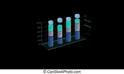 3D Infographic Element with Alpha Channel. Version with...