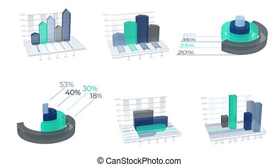 3D Infographic Elements with Alpha Channel are perfect for...