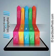 3D infographic. Smartphone icon.