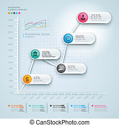 3d infographics diagram business.