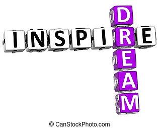 3D Inspire Dream Crossword
