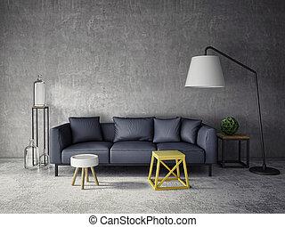 3d, interieur