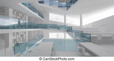 3d interior design blank room