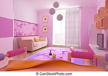 interior of the children\'s room