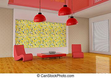 3d interior room
