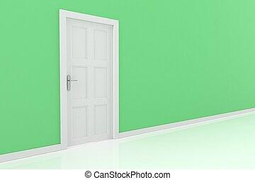 3d, interpretazione, di, uno, porta