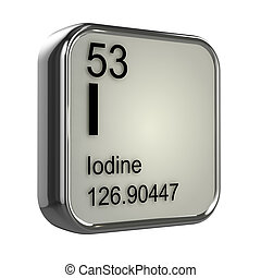 3d Iodine element - 3d render of iodine element design
