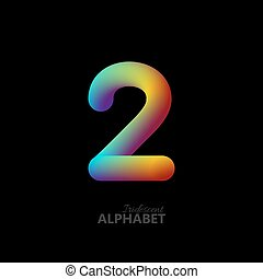 3d iridescent gradient number 2.