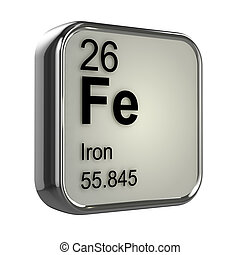 3d Iron element - 3d render of Iron element design