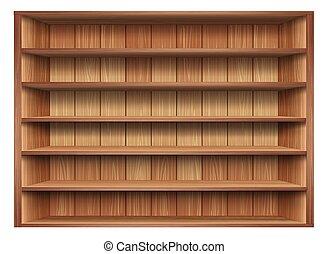 3d Isolated Empty Shelf For Exhibit Vector Illustration