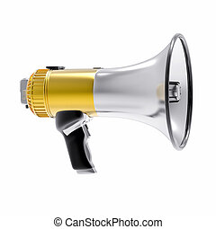 3D Isolated Megaphone Illustration