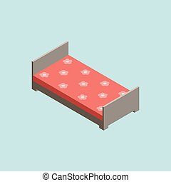 3D isometric bed