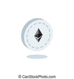 3d isometric Ethereum Symbol Vector