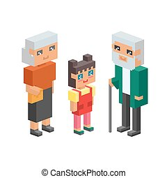 3d isometric family