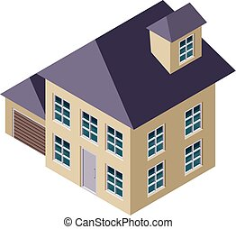 3D Isometric House