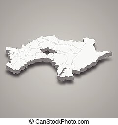 3d isometric map of Chiayi County is a region of Taiwan, ...