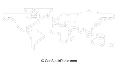 3D isometric map of World