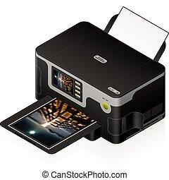 Ink Jet Printer - 3D Isometric Medium Home Color Photo Ink ...