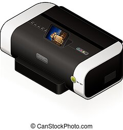 Ink Jet Printer - 3D Isometric Medium Home Color Photo Ink ...