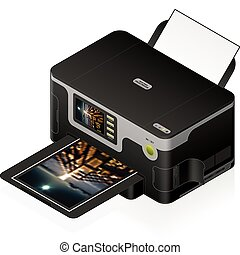 InkJet Printer - 3D Isometric Medium Home Color Photo InkJet...