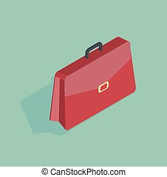 3d isometric vector illustration of a red handbag