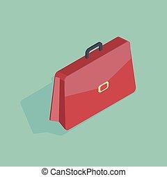 3d isometric vector illustration of a red handbag