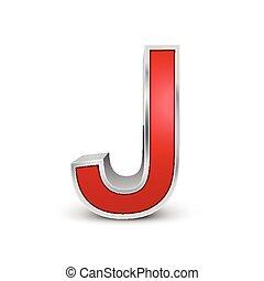 3d, j, 赤, 手紙, 金属