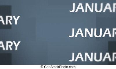 3d January Animation - January Animation