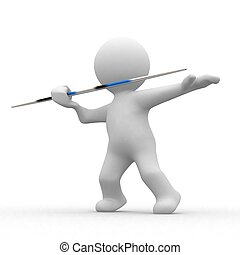 3d javelin - 3d human that throw a javelin in games