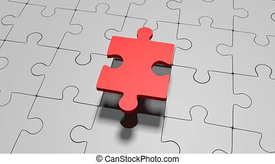 3D jigsaw puzzle concept - Missing jigsaw puzzle - great for...