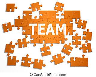 "3d Jigsaw puzzle ""Team"""