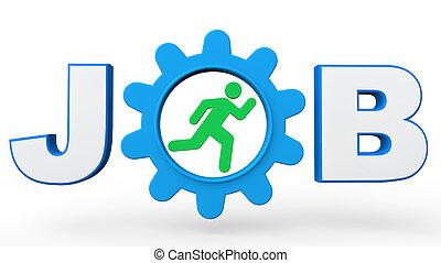 3d Job concept
