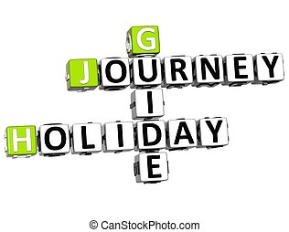 3D Journey Holiday Guide Crossword