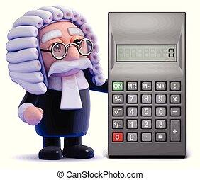3d Judge calculates