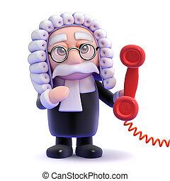 3d Judge phone call