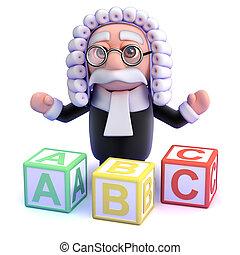 3d Judge teaches you the alphabet
