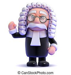 3d Judge waves