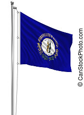3D Kentucky Flag - Rendering of flag of the US state of ...