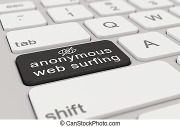 3d - keyboard - anonymous web surfing - black