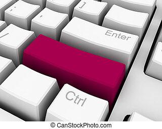 3d keyboard key blank